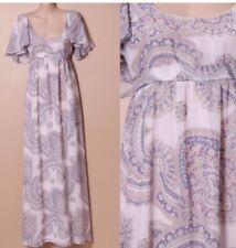 🧡 FOREVER NEW Women's Silky Chiffon Pink Purple Floral Maxi Dress Sz 8 S Xs