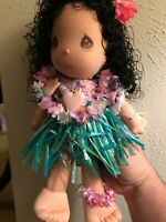 "Precious Moments Applause Hawaiian Hula Girl Doll 1989 Vintage 14"" With Org Tag"