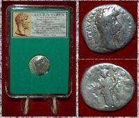 Ancient Roman Empire Coin LUCIUS VERUS Pietas With Incense Altar Silver Denarius