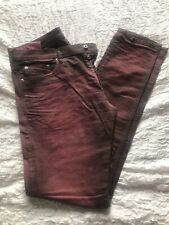 Jeans Diesel Tepphar Slim Carrot Rosso Effetto Used W36 L32