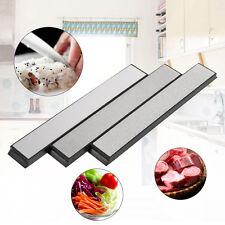 3PCS Silver Kitchen Knife Sharpener Sharpening Stone Diamond Whetstone Set