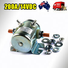SOLENOID STARTER CONTINUOUS DUTY SWITCH 200AMP 12V/14V DC UNIVERSAL MARINE AU