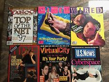 Tech Internet Magazine LOT of 6 from 1990's - WIRED YAHOO WWW TIME NETSCAPE RARE