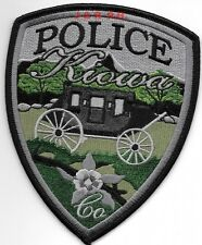 "Kiowa subdued, CO  (4"" x 5"" size)  shoulder police patch (fire)"