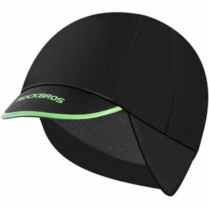 ROCKBROS Winter Cycling Cap Men Thermal Fleece Outdoor Sport Earmuffs Hat Black