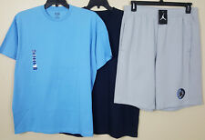 NIKE AIR JORDAN IX RETRO 9 SHORTS + 2 SHIRTS GREY UNC POWDER BLUE NEW (SIZE XL)