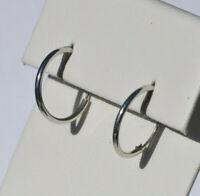 Echt 925 Sterling Silber Ohrringe Creolen 12 mm Nr 45