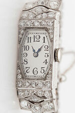 Vintage $10,000 5ct Old Euro Diamond Platinum IWC Ladies Watch WRTY