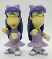 "Playmates 2002 The Simpsons Sherri & Terri 3.5"" Loose Figures Free Shipping"