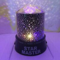 LED Starry Sky Projector Lamp Night Light Drill Surface Sky Starry Romantic X0Y6