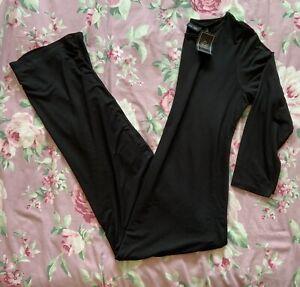 BNWT Next Tall Black Long Sleeve Maxi Dress Size 16