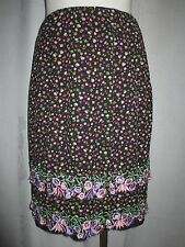 """Focus by Shani Women's Skirt - Size 6 Embroidered 2 Tiered Floral Applique 22""""L"""