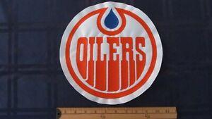 * rare wha amh world hockey association EDMONTON OILERS JERSEY PATCH CREST *