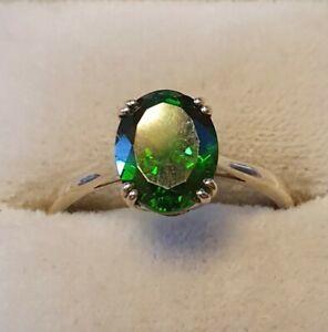 Exclusive Gold Ring With Cromdiopsid gr.60 Unworn Look