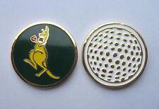 1 ONLY  Golf  BALL MARKER  KANGAROO GREEN & GOLD