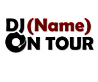 DJ Aufkleber on tour 20 cm Autoaufkleber Wunschname DeeJay decal 24 Mobil #8045