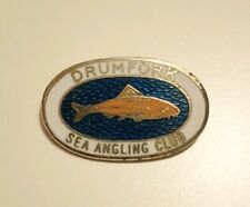 Vintage Drumfork Sea Angling Club Enamel Badge Pin