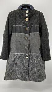 Paparazzi by Biz Long Embroidered Multi Media Jacket XL Coat Floral Button Boho