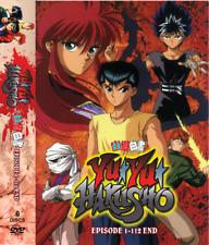 DVD Yu Yu Hakusho Complete Series (Episodes 1-112 End)~English Dubbed + Subtitle
