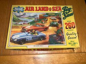 Vintage Tru Cut Jigsaw  Sports Car Race' Complete Boxed