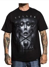Sullen Clothing Jak Connolly Wolf Lady Badge Shirt Black Mens Large Msrp $29.99