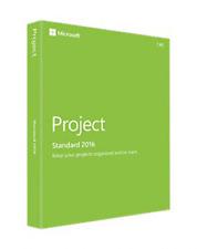 MICROSOFT PROJECT 2016 STANDARD NEW & SEALED MEDIALESS Z9V-00347