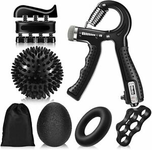 Handtrainer Fingertrainer Set 7 in 1 Hand Trainingsgerät Unterarmtrainer 10-60kg