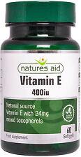 Vitamina E (Naturale) 400iu 60 capsule morbide - Natures Aid