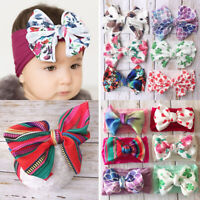 Baby Cotton Big Bow Tie Head Wrap Turban Top Knot Headband Newborn Girl