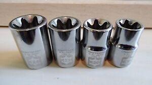 Craftsman 1/2 DR  4pc External E Torx Socket Set  E18, E20, E22, E24 NEW set