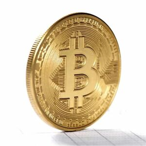 2021 GOLD Plated BITCOIN Collectible Gift Bit Coin Collection Physical Mint BTC