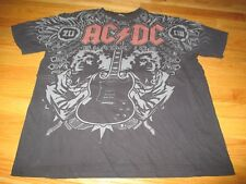 "AC DC ""BLACK ICE"" (LG) T-Shirt ANGUS YOUNG Mirror Image with Guitar"