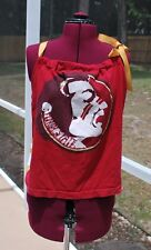 FSU Florida State University Noles Pillow Case Tank Shirt, Ribbon neck Size XL