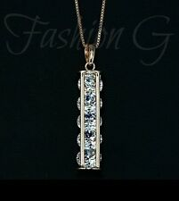 18ct Rose Rolled Gold Plated 5 pcs Swiss Cubic Zirconia Pendant necklace 4