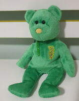 TY BEANIE BABIES WATTLIE GREEN AND YELLOW AUSTRALIA BEAR 21CM!