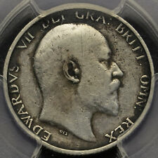 More details for 1905 edward vii silver shilling, very rare (r2), pcgs vf details