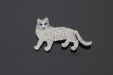 ART DECO PLATINUM DIAMOND CAT BROOCH