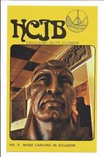 QSL Radio HCJB Quito Ecuador 1975 South America 15300 kcs  Wood Carving no 3 DX