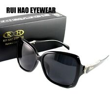 Designer Women Sunglasses Polarized Sun Glasses Eyewear UV Shade Black Frame