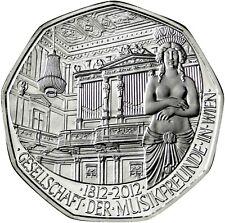 Österreich 5 Euro Silber Musikfreunde Wien 2012 Handgehoben Prosit Neujahr