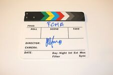 DIRECTOR ALFONSO CUARON SIGNED OFFICIAL CLAPBOARD w/COA ROMA MOVIE INSCRIPTION