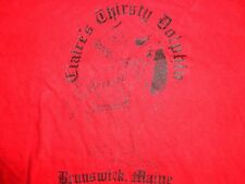 True Vintage Red Claires Thirsty Dolphin Brunswick ME Bar Party T shirt Fits M