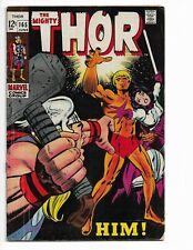 THOR 165 - VG+ 4.5 - 1ST FULL APPEARANCE OF ADAM WARLOCK (HIM) - ODIN (1969)