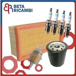 Kit Tagliando Fiat Panda Uno Tipo Lancia Y10 Motori Fire i.e 4WD+4 Candele Bosch