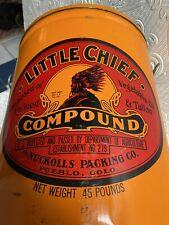 Antique Nuckolls Packing Plant Pueblo Colorado Little Chief Large Tin