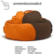 unmondocomodo.it: Poltrona sacco NUVOLA - MICROFIBRA - T. MORO & ARANCIO