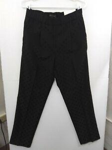 Ann Taylor Small Black/Black Polka Dot High Rise Easy Ankle Pants NWT