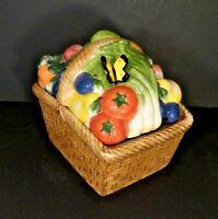 """Harvest Basket"" Cookie Jar from Certified International by Peggy Jo Ackley"