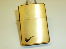 ZIPPO Lighter-Solid Brass With motivi-PIPE versione-Never struck -1999 - NICE