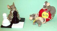 2 Charming Tails Mice Mouse Yo-Yo Ups & Downs & Chess Your Turn Fitz & Floyd